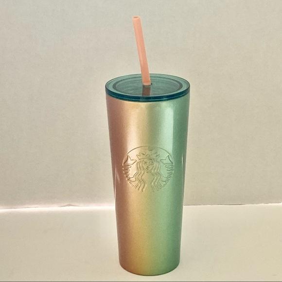 NWT Starbucks Metal 16 oz Tumbler with Straw